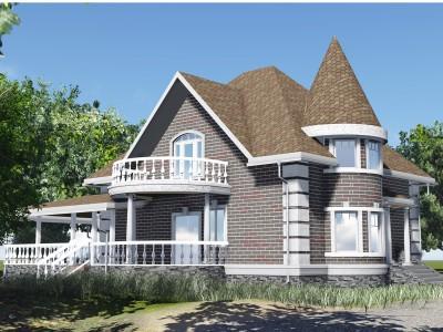Проект каркасно-щитового дома «Громово»
