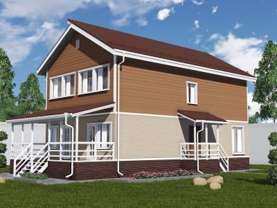 Проект каркасно-щитового дома «Вознесенье»