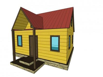 Проект каркасно-щитового дома «Березовик»