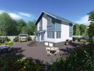 Проект каркасно-щитового дома «Дивенская»