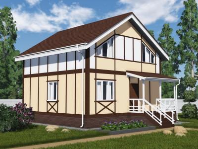 Проект каркасно-щитового дома «Володарское»
