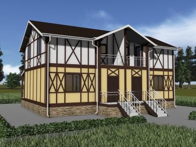 Проект каркасно-щитового дома «Казыченская»