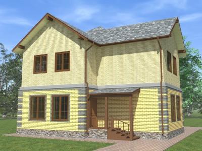 Проект каркасно-щитового дома «Вистино»