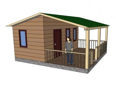 Проект дома из бруса «Агалатово»