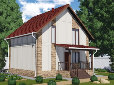 Проект дома из бруса «Ефремково»