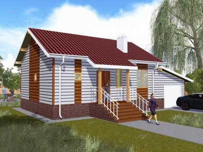 Проект каркасно-щитового дома «Гарболово»
