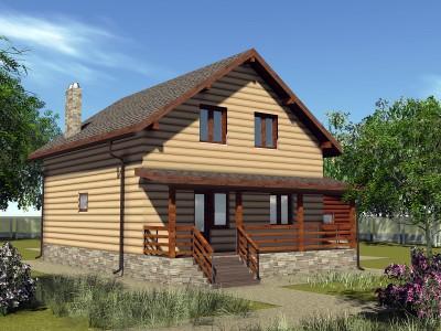 Проект каркасно-щитового дома «Игнатовское»