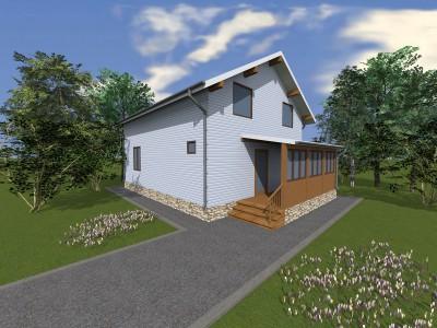Проект дома из бруса «Живой Ручей»