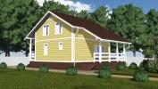 Проект каркасно-щитового дома «Волошово»