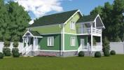 Проект каркасно-щитового дома «Возрождение»