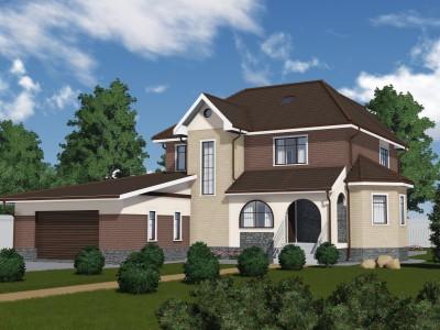 Проект каркасно-щитового дома «Колчаново»