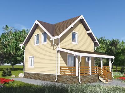 Проект дома из бруса «Гвардейское»