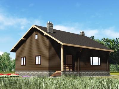 Проект каркасно-щитового дома «Гладкое»