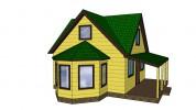 Проект каркасно-щитового дома «Бугры»