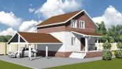 Проект каркасно-щитового дома «Кировск»