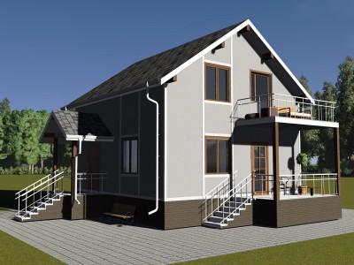 Проект дома из бруса «Кобринское»