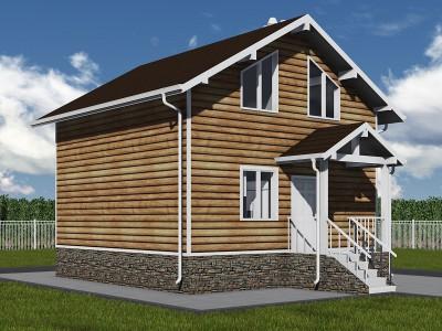 Проект каркасно-щитового дома «Высоцк»