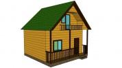 Проект каркасно-щитового дома «Андреево»