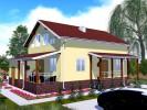 Проект дома из бруса «Гостилицы»