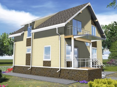 Проект каркасно-щитового дома «Гаврилово»