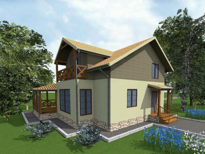 Проект дома из бруса «Кипень»