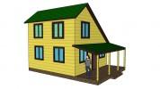 Проект каркасно-щитового дома «Белогорка»