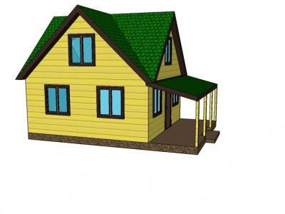 Проект каркасно-щитового дома «Боровое»
