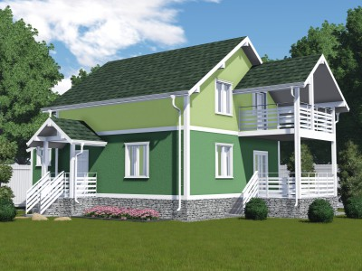 Проект дома из бруса «Возрождение»