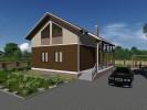 Проект каркасно-щитового дома «Запорожское»