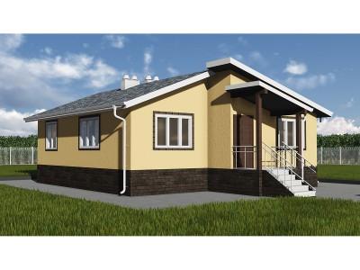 Проект каркасно-щитового дома «Гремячево»