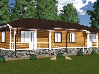 Проект дома из бруса «Кобралово»