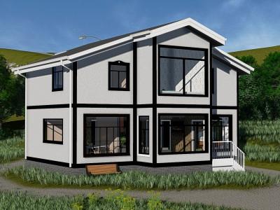 Проект каркасно-щитового дома «Гончарово»