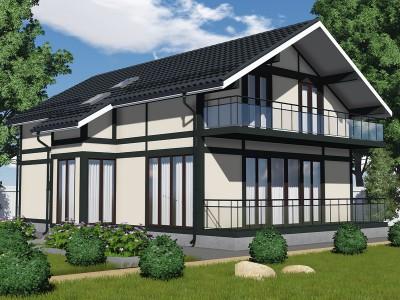 Проект каркасно-щитового дома «Клопицы»