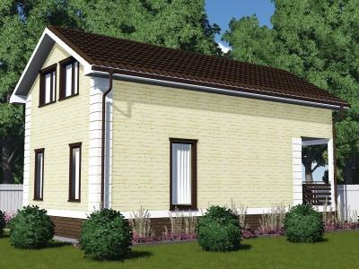 Проект дома из бруса «Коммунар»