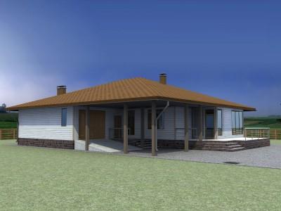 Проект дома из бруса «Ганьково»