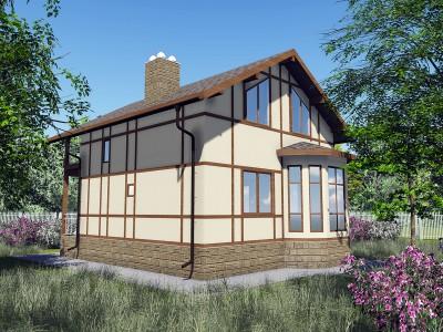 Проект каркасно-щитового дома «Имоченицы»