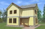 Проект дома из бруса «Вистино»