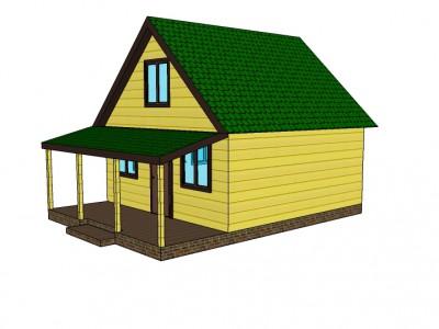 Проект каркасно-щитового дома «Андреевщина»