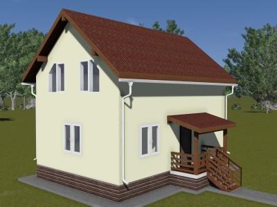 Проект каркасно-щитового дома «Журавлево»