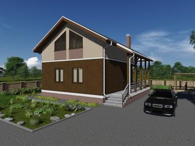 Проект дома из бруса «Запорожское»