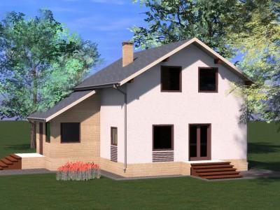 Проект дома из бруса «Коваши»