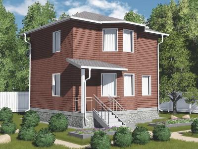Проект каркасно-щитового дома «Вруда»