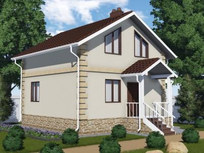 Проект каркасно-щитового дома «Керстово»