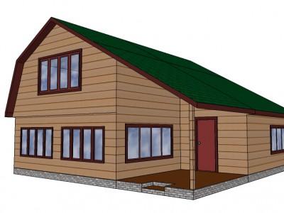 Проект каркасно-щитового дома «Ваганово»