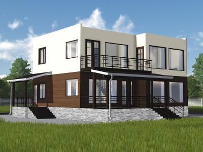 Проект каркасно-щитового дома «Извара»