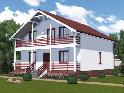 Проект каркасно-щитового дома «Копорье»