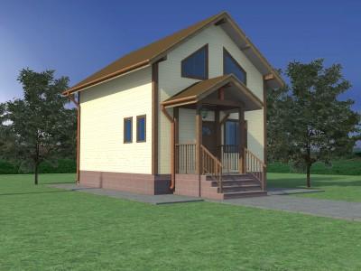 Проект каркасно-щитового дома «Гимрека»