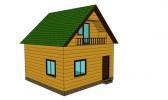 Проект каркасно-щитового дома «Андрианово»