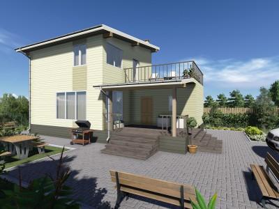 Проект дома из бруса «Заголодно»