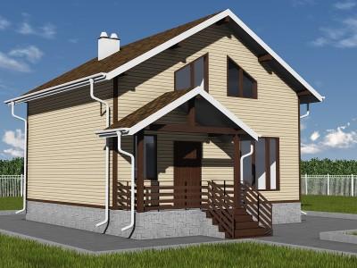Проект дома из бруса «Дубровка»